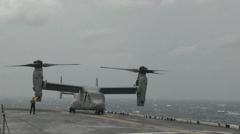 Navy and Marine Helicopters  SAR Efforts Around Sunken Ferry Sewol Site Stock Footage