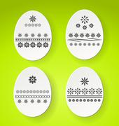 Stock Illustration of decorated easter eggs