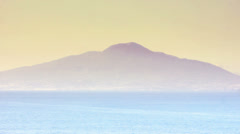 Volcano Mount Vesuvius at Sunset - 29,97FPS NTSC Stock Footage