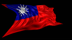 Flag of Republic of China Stock Footage
