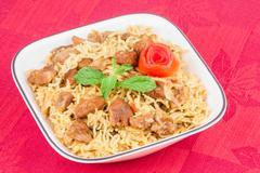 Mutton Biryani - stock photo