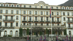 Villa d'Este seen from the lake  Stock Footage