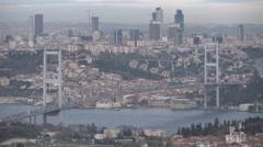 Bosphorus view from Çamlıca Stock Footage