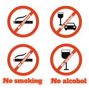 no smoking no alcohol - stock illustration
