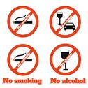 Stock Illustration of no smoking no alcohol