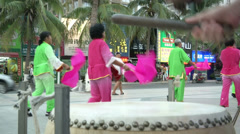 Music performers in Sanya, China  Stock Footage