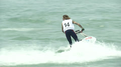 Acrobatic jet ski athlete  - stock footage