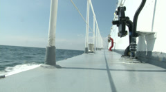 On board of coast guard boat navigating  Stock Footage