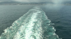 Wash wake of a cruise line ship  Stock Footage