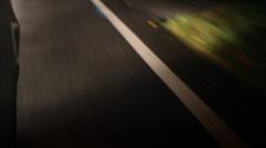 Defocused Night Driving on Dark Road Stock Video - stock footage
