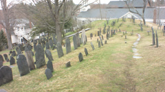 Graveyard in concord, ma Stock Footage