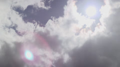 Dark Clouds Covering Sun Timelapse Stock Footage