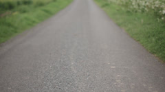 Hertfordshire Country Road Tilt and Focus Pull Stock Footage