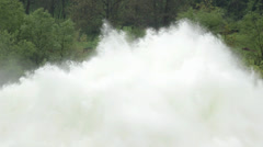 Open dam discharged a large amount of water,cascading,overfall,close up, Stock Footage