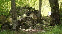 Cabin in the woods Stock Footage