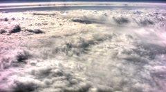 Aerial clouds hdr Stock Footage
