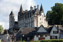 Chateau de loches in loire valley, france Stock Photos