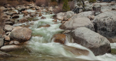 Time-Lapse of People Crossing a Stream of Water Stock Footage
