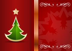 celebration background with tree and place for your text. - stock illustration
