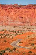Capitol reef geology. capitol reef national park, utah, united states. curved Stock Photos