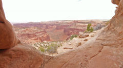 Canyonlands National Park Anasazi Ruin Native American Tracking Shot Stock Footage