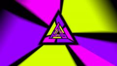 Colourfull Triangles Stock Footage