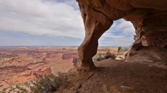 Canyonlands National Park Anasazi Ruin Native American Panning Shot Stock Footage