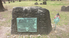 samuel adams headstone in boston, ma - stock footage