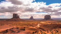 Timelapse Clouds over Monument Valley Native Park, Arizona Stock Footage
