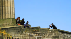 National Monument of Scotland- Shooting photo Stock Footage