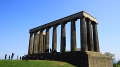National Monument of Scotland Stock Footage