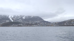 Norway-Narvik-Town-Bay Stock Footage