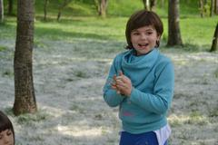 Two Little Girls Playing In The Park, Nature, Fun, Youth Stock Photos