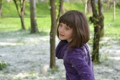 Little Girl Playing In The Park, Nature, Fun, Youth Stock Photos