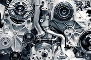 Gas engine closeup background photo. car engine. Stock Photos