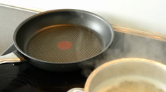 Pot and skillet&pan in the kitchen Stock Footage