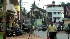 India Federal State of Karnataka City of Mangalore  032 typical street scene Stock Footage