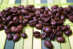 Aromatic coffee beans closeup photo. Stock Photos