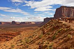 monuments valley tribal park in norther arizona state, united states. summer - stock photo