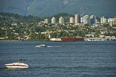 west vancouver area, british columbia, canada. vancouver residential area. - stock photo