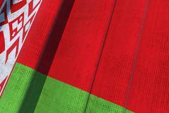 Belarus national flag. 3d waving canvas flag. Stock Illustration