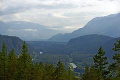 British columbia canada. beautiful nature scenery. scenic by way between squa Stock Photos
