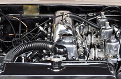 Vintage auton moottori Kuvituskuvat