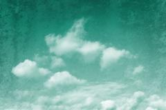 Emerald tinged sky - stock photo
