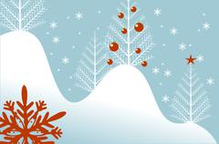 cool light blue winter backdrop abstract illustration. - stock illustration