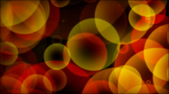 Spheres And Sparkles Red-Orange Yellow  - stock footage