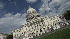 Capitol kerplunks from tilt to straight Stock Footage