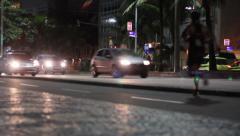 1306019 - Vieira Souto avenue, Ipanema beach, Rio de Janeiro at night Stock Footage