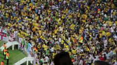 1306020 - Brazilian crowd, Rio de Janeiro, Maracana Stadium Stock Footage