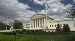 Full Sun on Supreme Court building, DC Stock Footage